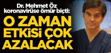 Dr. Mehmet Öz koronavirüs için tarih verdi