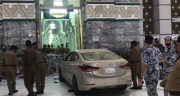 Mekke'de bir kişi aracıyla Mescid-i Haram'a daldı